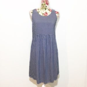 Blue White Gingham Maternity Dress Old Navy Small